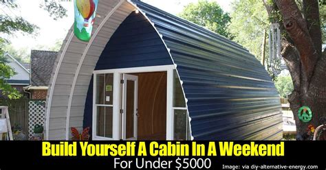 build a house for 5000 dollars build yourself a cabin in a weekend for 5000