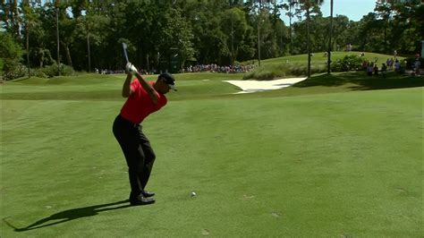 tiger woods swing from behind tiger woods finds positives among the negatives from his