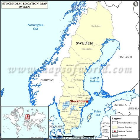 sweden on a world map where is stockholm location of stockholm in sweden map