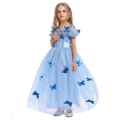 Dress Tutu Anak Pettite Bunga Rainbow Sale New Cinderella Dress Blue Princess Costume