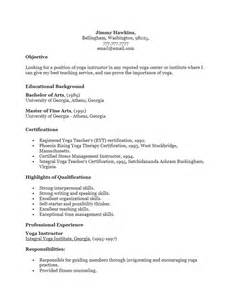 free instructor resume template sle ms word