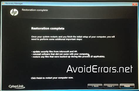 resetting hp pavilion to a factory setting restore hp pavilion to factory defaults