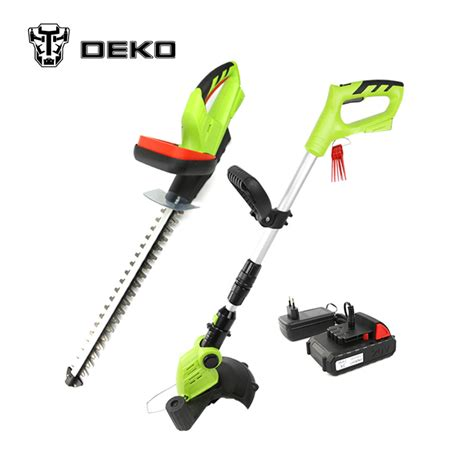 Li Set Overal 2in1 deko 2 in 1 20v li ion battery cordless grass trimmer cordless hedge trimmer garden tool set