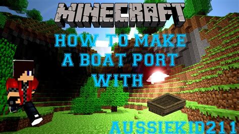how to make a boat in minecraft creative mode minecraft how to make a boat port youtube