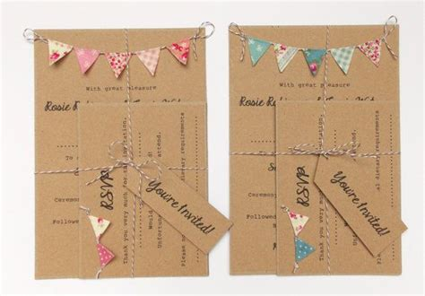 summer fete wedding invitations rustic wedding invitation unique rustic kraft card with