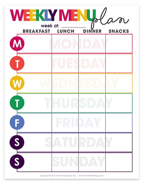 free printable exercise and menu planner 5 free weight loss planner printables stingy thrifty broke