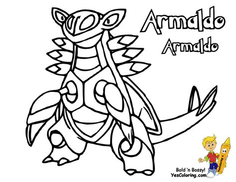 Legendary Pokemon X And Y Coloring Pages Armaldo At sketch template