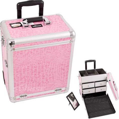 Makeup Cases With Drawers by E6302 Aluminum Rolling Artist Cosmetic Makeup