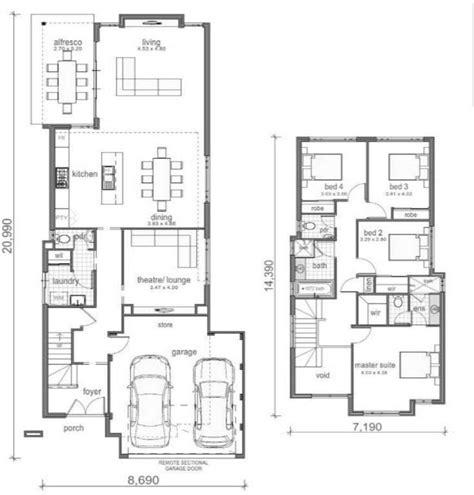 imagenes de planos de casas planos de casas con garaje imagenes decoracion dos pisos