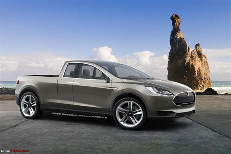 electric pickup truck tesla pick up truck plans confirmed team bhp