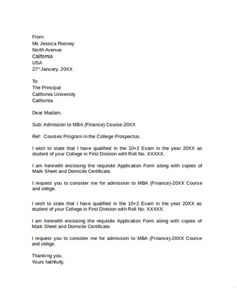 Hshire College Acceptance Letter Sle College Application Letter 6 Documents In Pdf Word