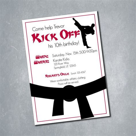 printable birthday cards karate 10 martial arts karate tae kwon do red black and white