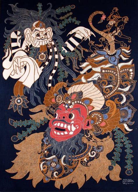 hair tattoo batik batik art barong and rangda locked in the eternal battle