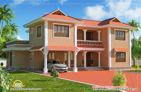 Duplex Sloping Roof House 2618 Sq Ft Indian Home Decor