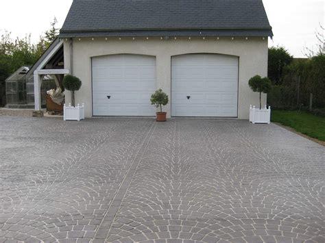 beton allee garage all 233 e et aire de stationnement les ma 231 ons du paysage