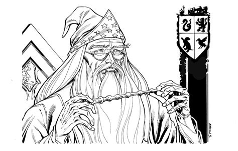 harry potter coloring pages dumbledore how to draw dumbledore