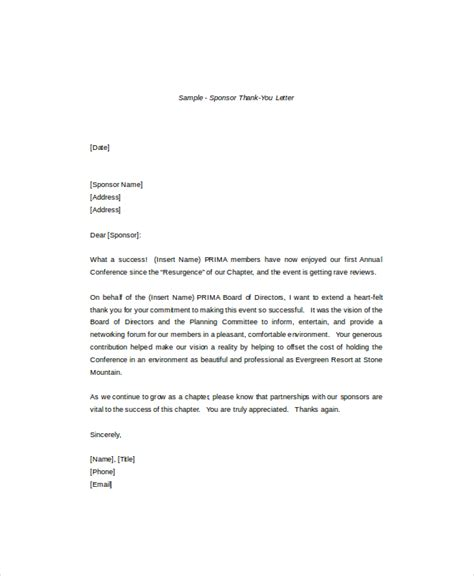 thank you letter 8 free word pdf documents