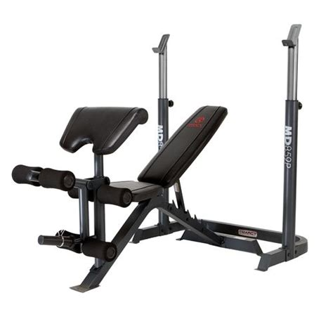 marcy diamond elite 2 piece adjustable mid width bench