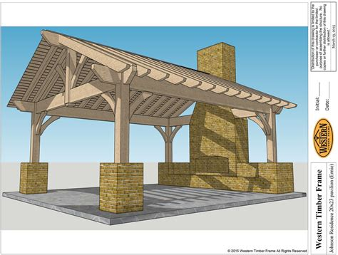 Outdoor Fireplace Plans Diy - add element of fire with outdoor fireplace amp diy pergola kit western timber frame