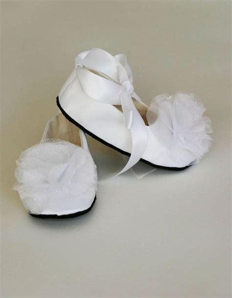 white toddler ballet slippers white satin toddler shoe couture ballet slipper flower