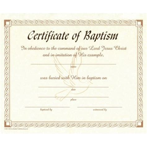 baptism certificate templates search results for water baptism certificate template