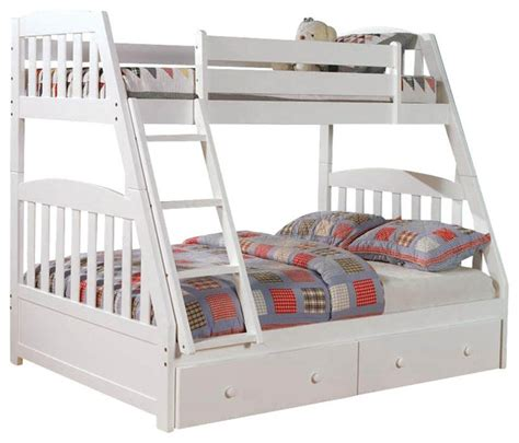 Bunk Bed Without Bottom Bunk Chelsea Home Mission Bunk Bed Without Underbed Storage In White Farmhouse