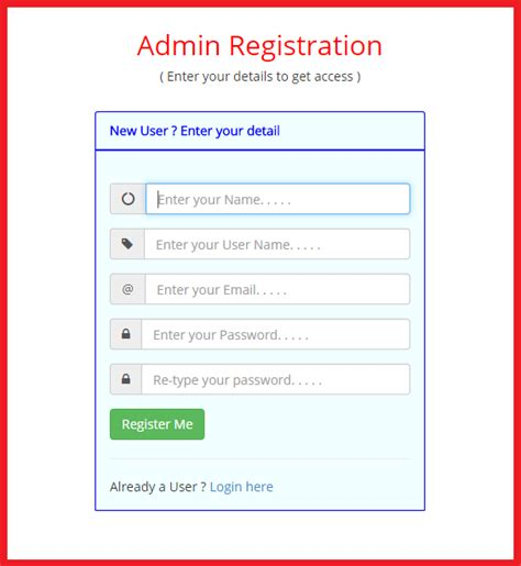 bootstrap tutorial registration form login and registration form using bootstrap free source