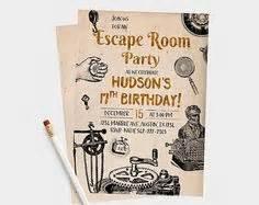 printable escape room invitations escape the room invitation let s party escape room