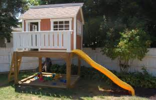 outside playhouse plans backyard playhouse and sandbox by ayryq lumberjocks com woodworking community