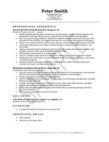 Exles Of A Cv Cover Letter by Early Years Resume Sales Lewesmr