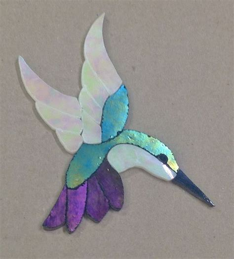 mosaic hummingbird pattern details about precut stained glass art kit lady