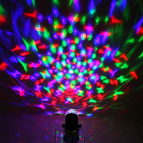 sound activated stage lights sound activated rotating rgb led disco stage light
