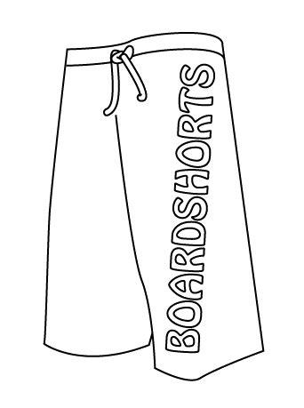 10 Vector Boardshorts Template Board Shorts Template