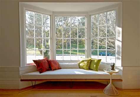 Bay Window Decorating Ideas Living Room Midcentury With