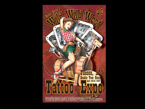 tattoo expo az west expo poster on behance
