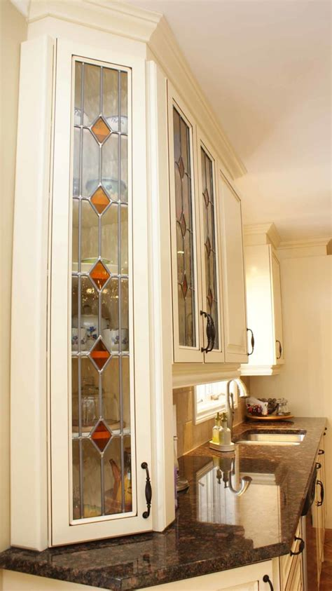 stained glass kitchen cabinets stained glass kitchen les armoires s 233 guin cabinets