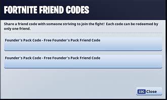fortnite redeem code friend code issues forums