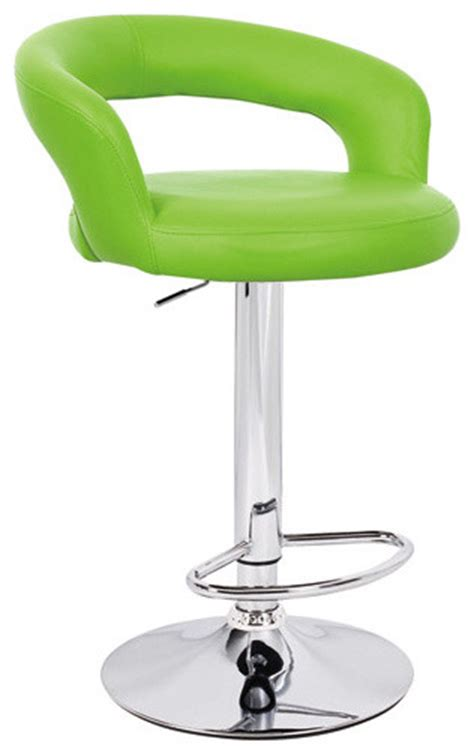 Lime Green Bar Stool Halo Quot Leather Quot Contemporary Adjustable Barstool Lime Green Contemporary Bar Stools And