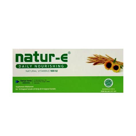 Suplemen Kulit E natur e vitamin e 100 iu 4 x 4 kapsul
