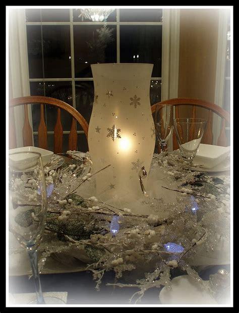 Snowflake Hurricane Shade Centerpiece Snowbabies Pinterest Snowflake Centerpieces Wedding Receptions