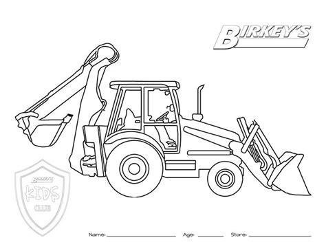 tractor coloring page pdf tractor backhoe coloring page munstur pinterest