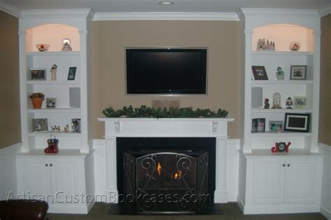 ornate fireplace bookcases existing mantel artisan
