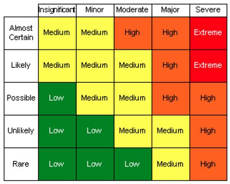 risk matrix template project management the risk radial refining the prioritisation of project