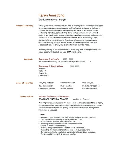 Senior Financial Analyst Resume by Financial Analyst Resume