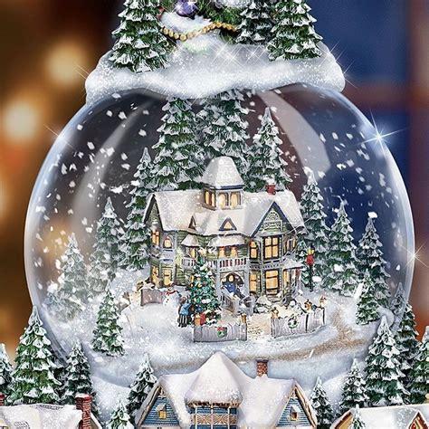 amazoncom church snow globes snow globes kinkade kinkade quot wondrous winter quot musical
