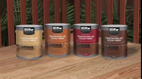 behr premium transparent penetrating oil wood finish