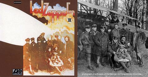 led zeppelin ii original for album cover 1969 by