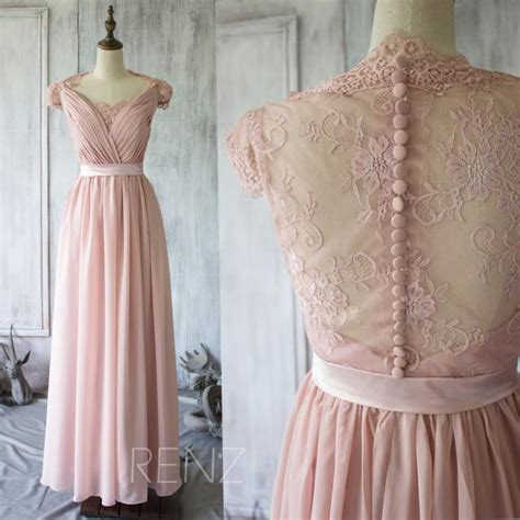 Kp 15 3 Pink Brokat Dress 2015 blush lace bridesmaid dress cap sleeves dusty pink
