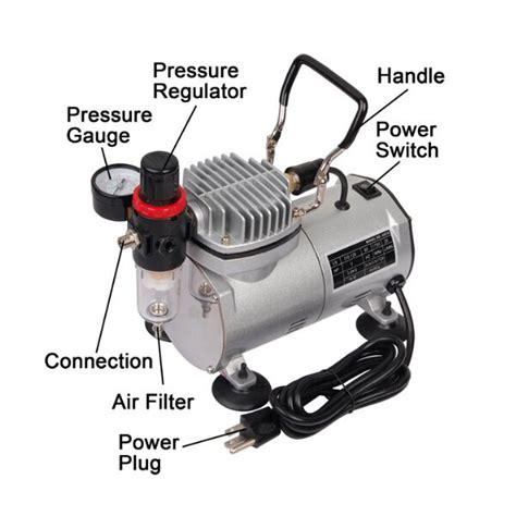 Mini Air Compressor 14 Hp Kompresor Mini Bonus Airbrush Kit k 246 p 1 6 hp mini kompressor airbrush set modell