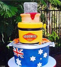 australia day cake includes a bbq vegemite lamington and a meat pie daily mail online